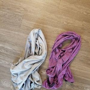 2 lululemon Vinaysa scarves